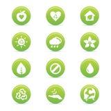 Ícones da sustentabilidade Fotografia de Stock Royalty Free