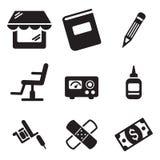 Ícones da tatuagem Fotografia de Stock