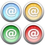 Ícones da tecla do email Imagem de Stock Royalty Free