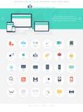 Ícones da tecnologia Imagem de Stock