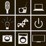 Ícones da tecnologia Fotos de Stock