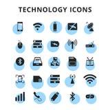 Ícones da tecnologia ajustados ilustração do vetor
