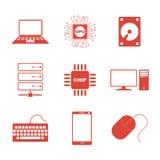 Ícones da tecnologia ajustados Imagens de Stock