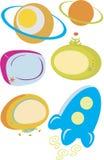 Ícones da tecnologia espacial ilustração do vetor