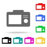 Ícones da tela da câmera Elementos Web humana de ícones coloridos Ícone superior do projeto gráfico da qualidade Ícone simples pa ilustração do vetor