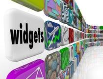 Ícones da telha dos programas de software de Apps das aplicações dos Widgets ilustração stock