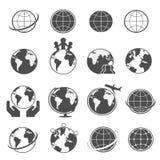 Ícones da terra do globo ajustados Imagens de Stock Royalty Free