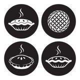 Ícones da torta Fotografia de Stock Royalty Free