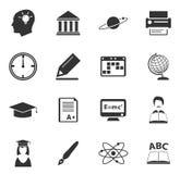 Ícones da universidade ajustados Fotografia de Stock