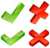 Ícones da validação Ilustração Stock