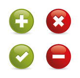 Ícones da validação. Ilustração do vetor. Fotos de Stock
