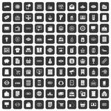 100 ícones da venda ajustados pretos ilustração do vetor