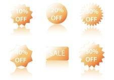 Ícones da venda do vetor. Ilustração Stock
