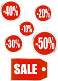 Ícones da venda do vetor Imagens de Stock Royalty Free