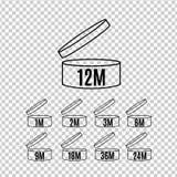 Ícones da vida útil ajustados ilustração stock