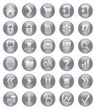 Ícones da Web Imagem de Stock