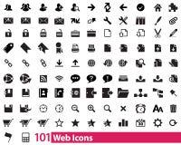 101 ícones da Web Fotos de Stock