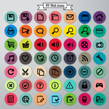 Ícones da Web ajustados Fotografia de Stock Royalty Free