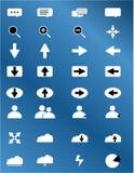 Ícones da Web ajustados Fotografia de Stock