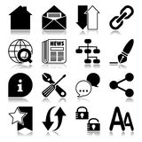 Ícones da Web com reflexão Imagens de Stock Royalty Free