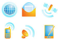 Ícones da Web da conexão Fotografia de Stock