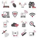 Ícones da Web de uma comunicação Imagem de Stock
