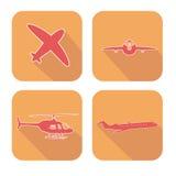 Ícones da Web do avião ajustados Fotografia de Stock Royalty Free