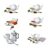 Ícones da Web do chá Foto de Stock Royalty Free