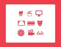 Ícones da Web do cinema ajustados Fotos de Stock
