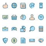 Ícones da Web do negócio Fotografia de Stock