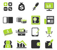 Ícones da Web do negócio e da finança Imagens de Stock Royalty Free