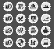 Ícones da Web do negócio e da finança Fotografia de Stock Royalty Free