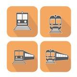 Ícones da Web do trem ajustados Fotos de Stock