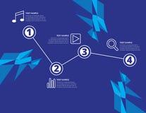 Ícones da Web dos elementos de Infographic fáceis colocar em todas as superfícies Imagens de Stock Royalty Free