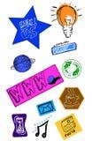 Ícones da Web e do Internet Imagem de Stock Royalty Free