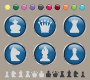 Ícones da xadrez Imagens de Stock