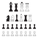 Ícones da xadrez ilustração do vetor