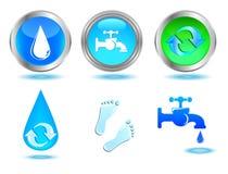 Ícones das águas ajustados. Imagem de Stock Royalty Free