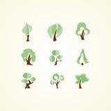Ícones das árvores Foto de Stock Royalty Free