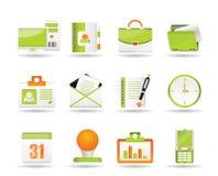 Ícones das aplicações web, do negócio e do escritório ilustração do vetor