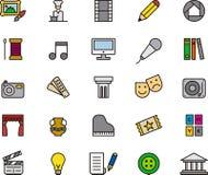 Ícones das artes Imagens de Stock