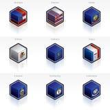 Ícones das bandeiras de Estados Unidos ajustados Foto de Stock