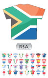 Ícones das bandeiras de países Fotos de Stock Royalty Free
