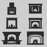 Ícones das chaminés Imagens de Stock
