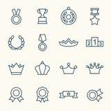 Ícones das concessões ilustração royalty free
