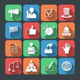 Ícones das eleições ajustados ilustração stock