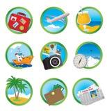 Ícones das férias Fotografia de Stock Royalty Free