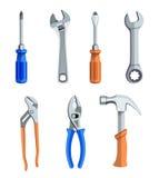 Ícones das ferramentas ajustados Imagens de Stock Royalty Free