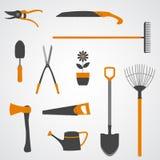 Ícones das ferramentas de jardim ilustração royalty free
