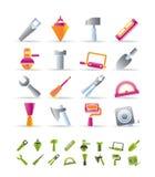 Ícones das ferramentas do edifício e da construção Foto de Stock